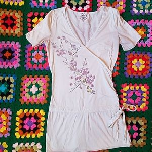 Scrapbook phoenix and cherry blossoms tunic top